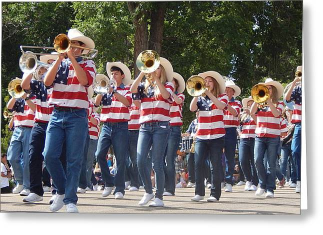 Marching Band Greeting Cards - Marching Bands Greeting Card by Phyllis Ezit