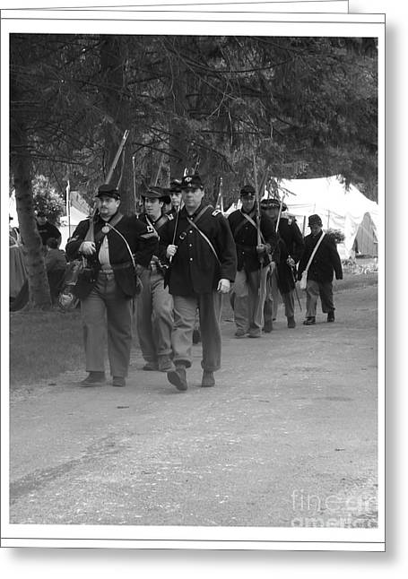 Marching Off To Battle Greeting Card by Sara  Raber