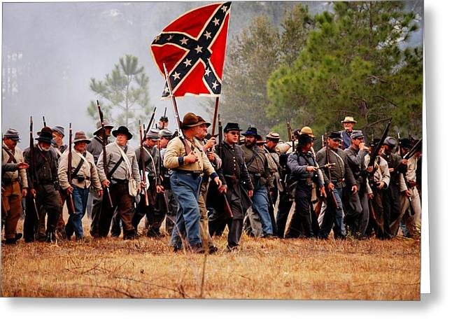 Confederate Flag Greeting Cards - Marching On Greeting Card by Donald Williams