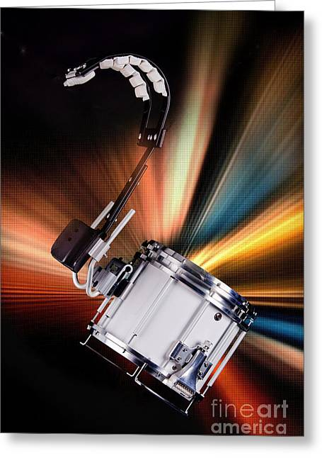 Marching Band Greeting Cards - Marching Snare drum Music Photograph in Color 3327.02 Greeting Card by M K  Miller