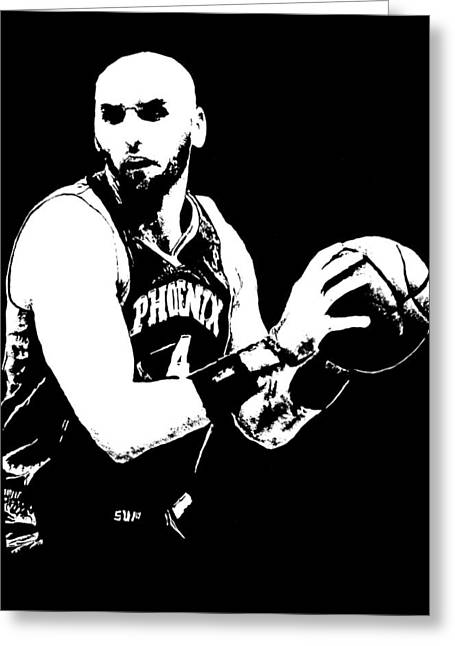 Orlando Magic Digital Art Greeting Cards - Marcin Gortat Greeting Card by Paula Sharlea