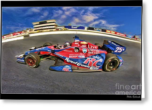 Marco Andretti Greeting Card by Blake Richards