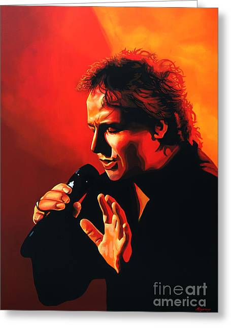 Believe Greeting Cards - Marco Borsato Greeting Card by Paul  Meijering