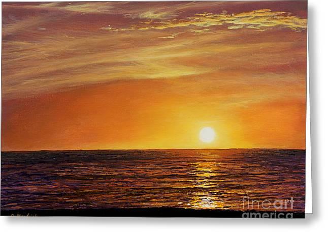 Florida East Coast Greeting Cards - Marco Island Sunset Greeting Card by Joe Mandrick