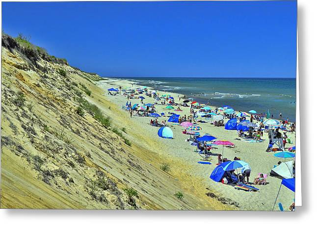 Marconi Beach Greeting Cards - Marconi Beach National Seashore Cape Cod Greeting Card by Allen Beatty
