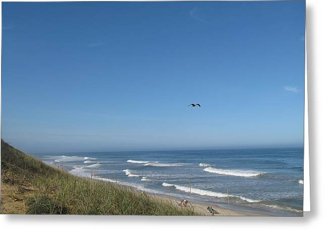 Marconi Beach Greeting Cards - Marconi Beach Wellfleet MA Greeting Card by Barbara McDevitt