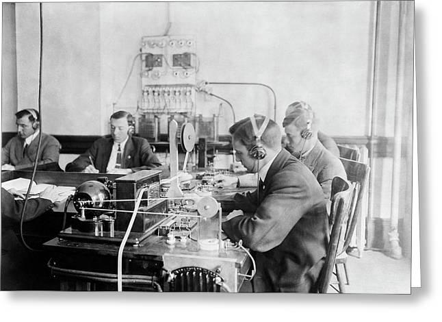Marconi Wireless School Greeting Card by Library Of Congress