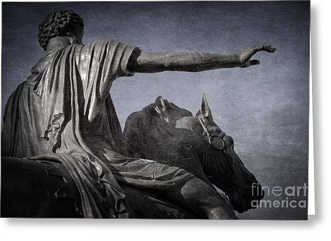 Rome Greeting Cards - Marcus Aurelius - Rome  Greeting Card by Rod McLean