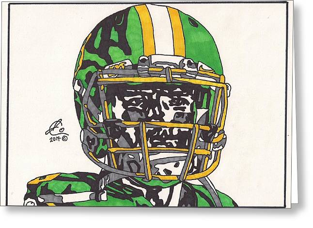 Ncaa Drawings Greeting Cards - Marcus Mariota 3 Greeting Card by Jeremiah Colley