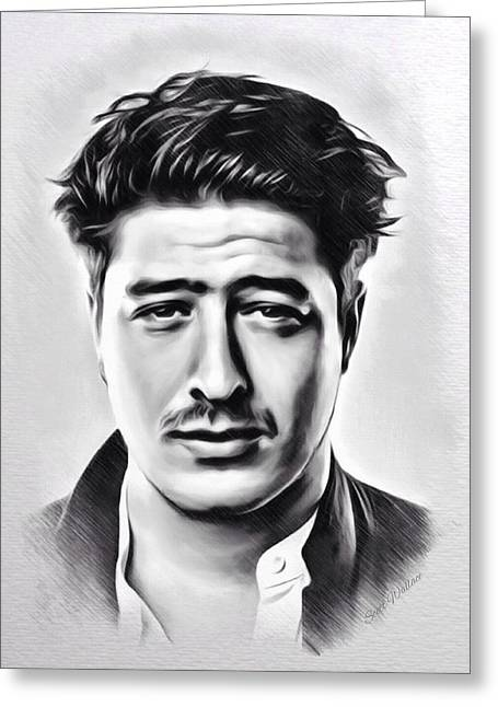 1987 Digital Art Greeting Cards - Marcus Mumford Sketch Greeting Card by Scott Wallace