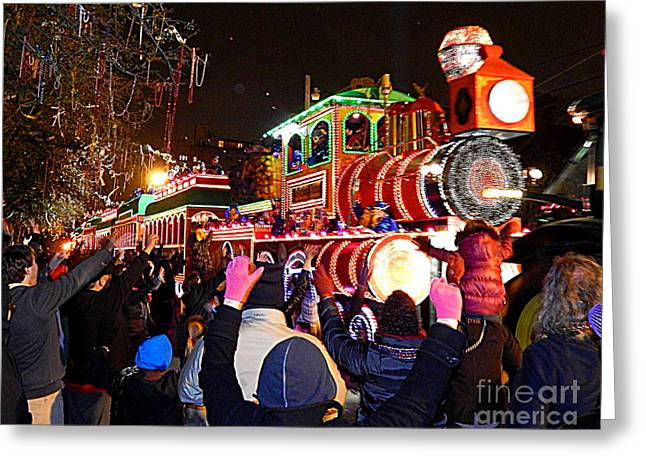 St Charles Avenue Greeting Cards - Mardi Gras 2014 Orpheus Super Float Smokey Mary Greeting Card by Michael Hoard