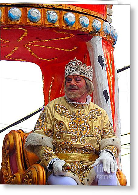 St Charles Avenue Greeting Cards - Mardi Gras 2014 Rex King of Carnival Greeting Card by Michael Hoard