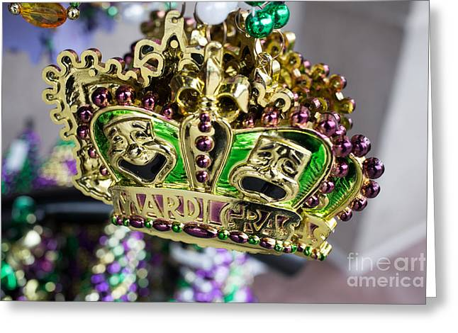 Colorful Beads Greeting Cards - Mardi Gras Beads Greeting Card by Edward Fielding