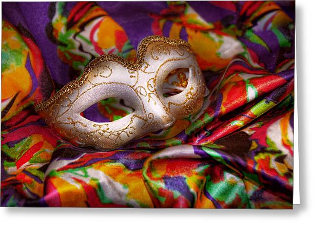 Mardi Gras - Celebrating Mardi Gras  Greeting Card by Mike Savad