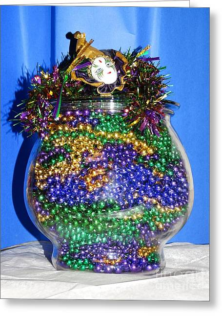 Puma Pictures Greeting Cards - Mardi Gras Celebration Greeting Card by Joseph Baril