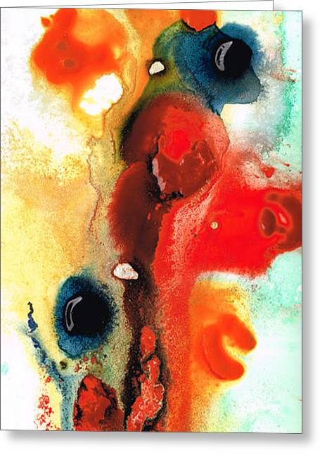 Large Prints Paintings Greeting Cards - Mardi Gras - Colorful Abstract Art by Sharon Cummings Greeting Card by Sharon Cummings