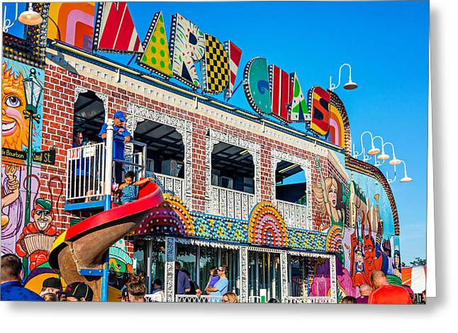 Slide Prints Greeting Cards - Mardi Gras Fun House Greeting Card by Steve Harrington