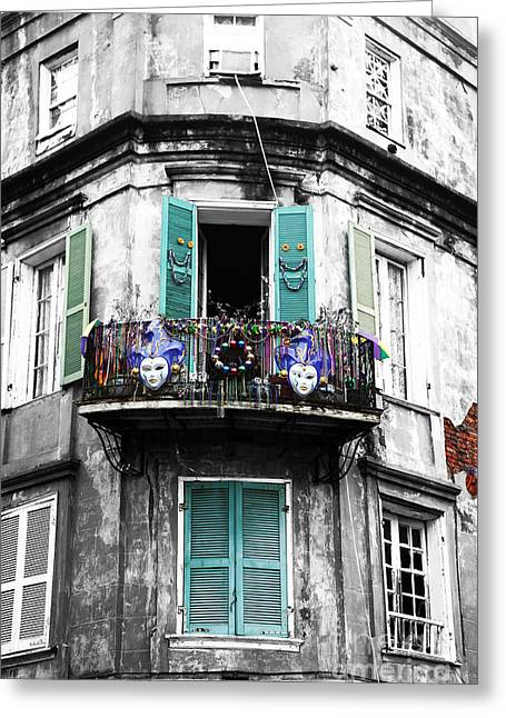 Artist Photographs Greeting Cards - Mardi Gras Fusion Greeting Card by John Rizzuto