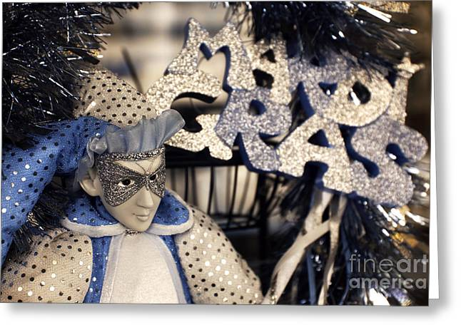 Jester Greeting Cards - Mardi Gras Jester infrared Greeting Card by John Rizzuto