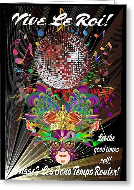 Convention Mixed Media Greeting Cards - Mardi Gras King1 Print 4 Greeting Card by Bill Campitelle