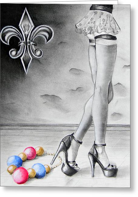 Mardi Gras Legs Greeting Card by Steve Ellenburg