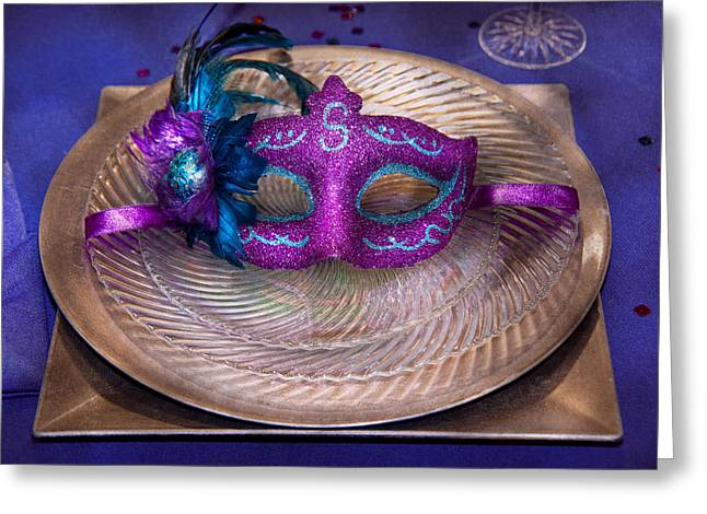 Masked Crusader Greeting Cards - Mardi Gras Theme - Surprise guest Greeting Card by Mike Savad