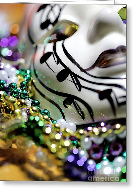 Gold Necklace Greeting Cards - Mardi Gras I Greeting Card by Trish Mistric