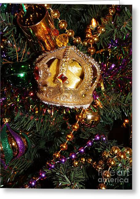 Puma Pictures Greeting Cards - Mardi Grass Crown Greeting Card by Joseph Baril