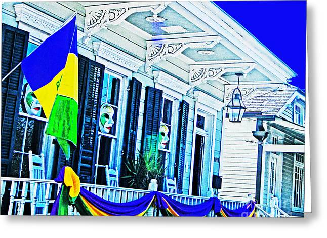 Mardis Greeting Cards - Mardis Gras New Orleans Decor Greeting Card by Lizi Beard-Ward