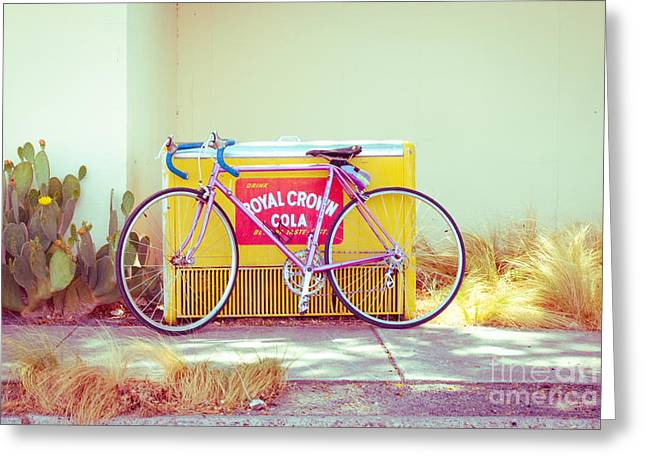 Ten Speed Greeting Cards - Marfa Cola Bike Greeting Card by Sonja Quintero