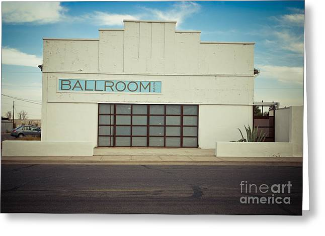 Sonja Quintero Greeting Cards - Marfa Texas Ballroom Greeting Card by Sonja Quintero