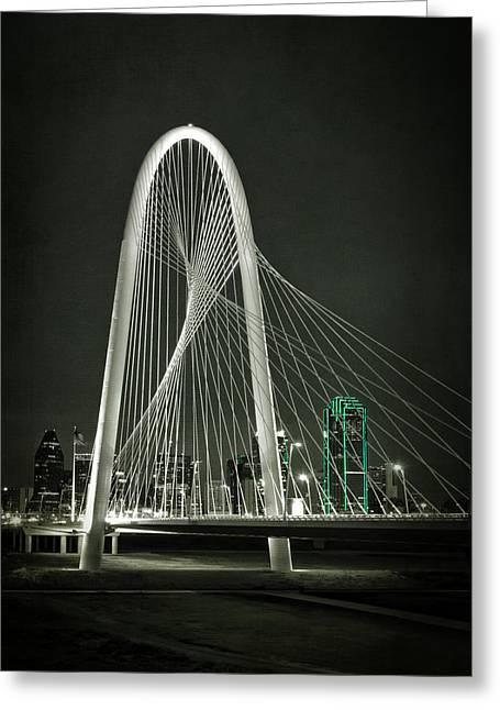 Margaret Hunt Hill Bridge By Night Greeting Card by Joan Carroll