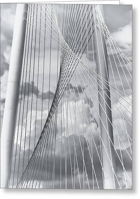Dallas Texas Greeting Cards - Margaret Hunt Hill Bridge Greeting Card by Joan Carroll