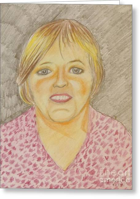 Eyebrow Drawings Greeting Cards - Margaret Greeting Card by Stephen Brooks