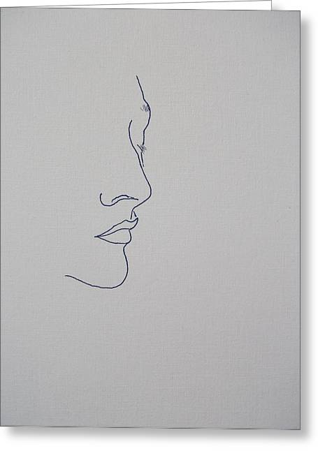Nose Drawings Greeting Cards - Margarita Fifty Six Greeting Card by Vernon Holt