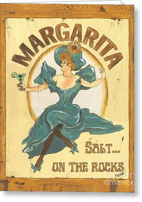 Rustic Greeting Cards - Margarita salt on the rocks Greeting Card by Debbie DeWitt