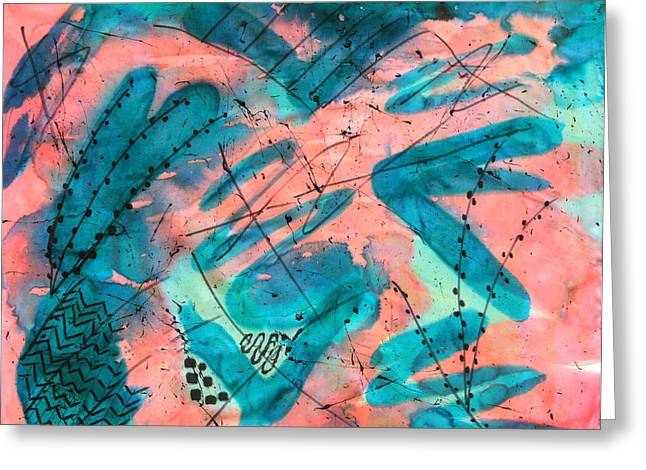 Salmon Paintings Greeting Cards - Margarita Ville Greeting Card by Sharon Clarke