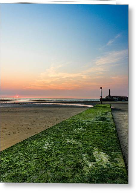 Seafront Greeting Cards - Margate Beach Greeting Card by Ian Hufton