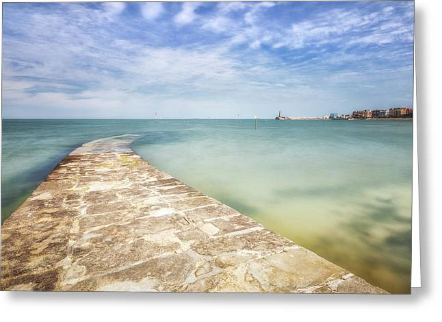 Seafront Greeting Cards - Margate Greeting Card by Ian Hufton