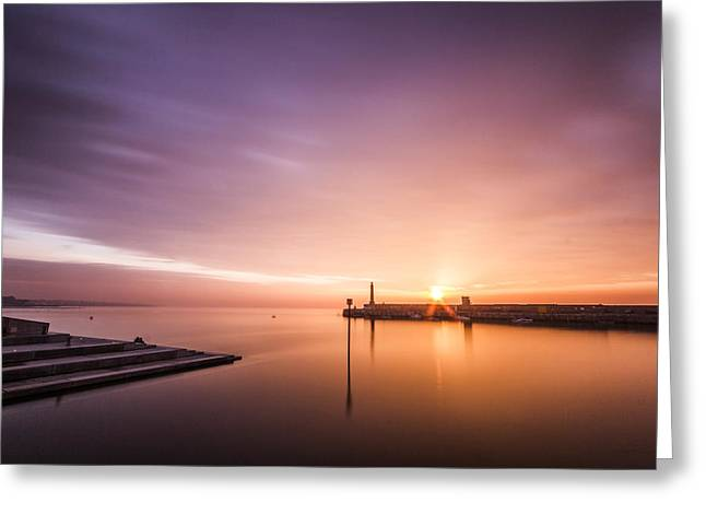 Seafront Greeting Cards - Margate sunset Greeting Card by Ian Hufton