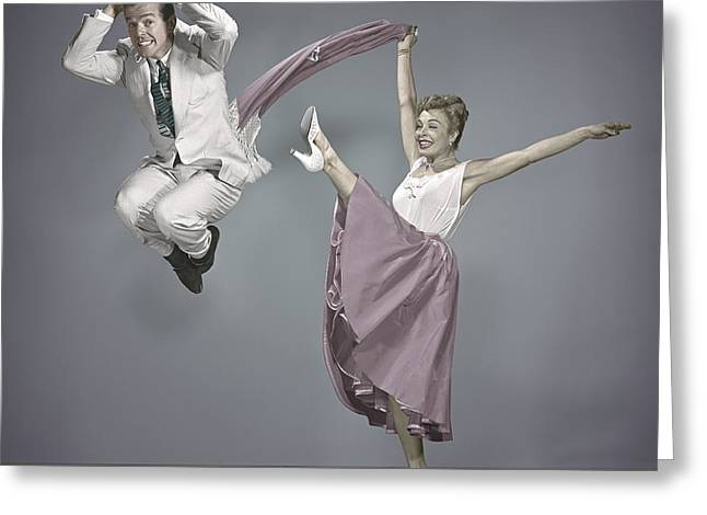 Choreographer Greeting Cards - Marge and Gower Champion 1952 Greeting Card by Martin Konopacki
