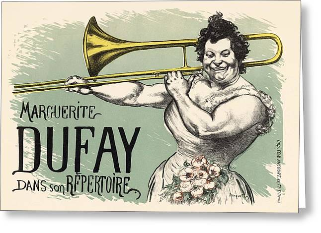 Belle Epoque Greeting Cards - Marguerite Dufay dans son Repertoire Greeting Card by Gianfranco Weiss