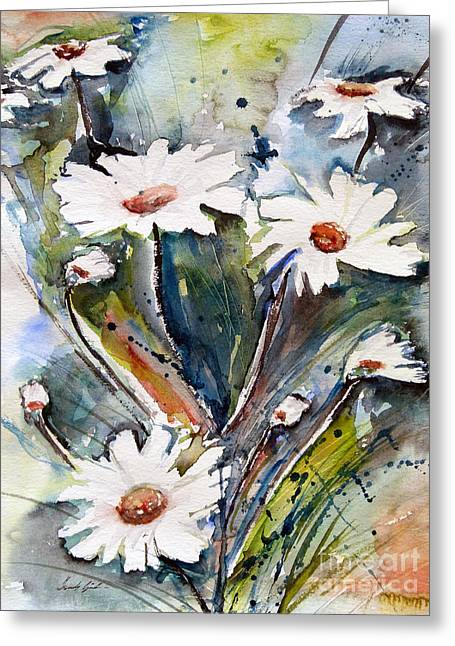 Gruenwald Greeting Cards - Marguerites Greeting Card by Ismeta Gruenwald