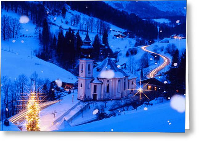 Headlight Greeting Cards - Maria Gern Church Berchtesgaden Bavaria Greeting Card by Panoramic Images