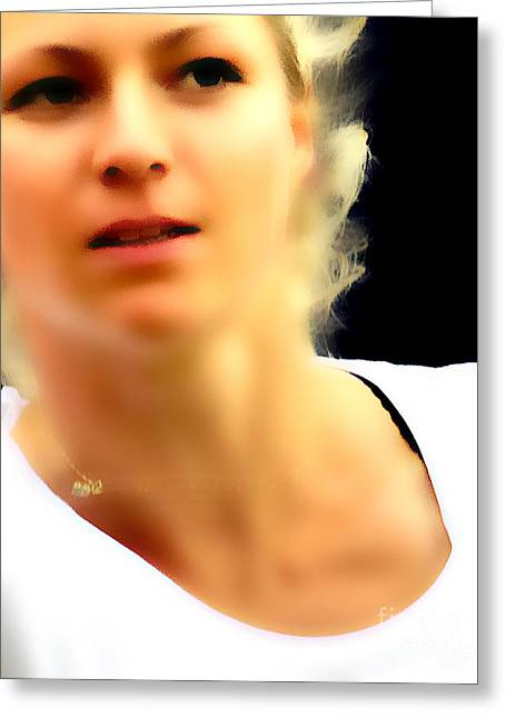 Maria Kirilenko Greeting Cards - Maria Kirilenko Greeting Card by Phil Robinson