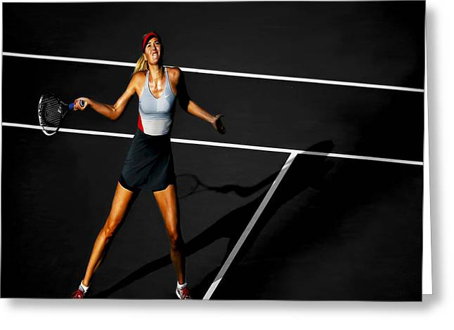 French Open Digital Greeting Cards - Maria Sharapova Greeting Card by Brian Reaves