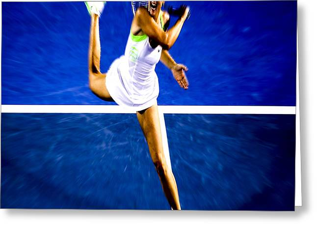 Wta Greeting Cards - Maria Sharapova in a Zone Greeting Card by Brian Reaves