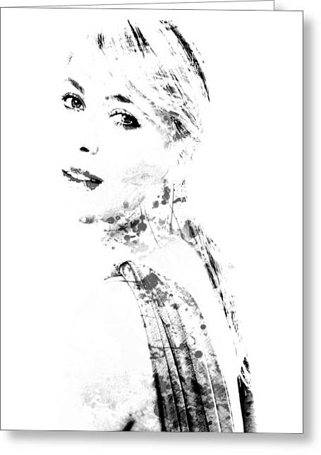 French Open Digital Greeting Cards - Maria Sharapova Paint Splatter 1a Greeting Card by Brian Reaves