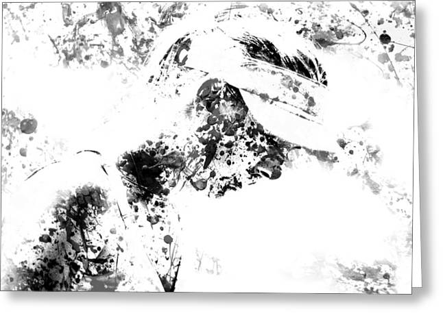 French Open Digital Greeting Cards - Maria Sharapova Paint Splatter 4g Greeting Card by Brian Reaves