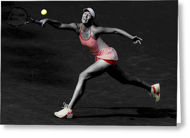 Wta Greeting Cards - Maria Sharapova Reaching Out Greeting Card by Brian Reaves